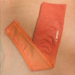 Gymshark seamless leggings in peach/coral ombré